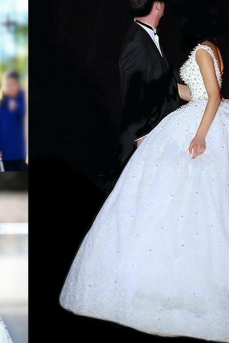 Luxury 2018 New Arrival Ball Gown Wedding Dresses Beaded Crystals Rhinestone Pearls Wedding Gowns Backless Bridal Dress Wedding Gowns Custom