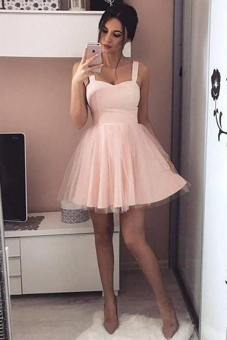 cute pink homecoming dresses, simple short prom dresses, cheap fashion party dresses, teen fashion